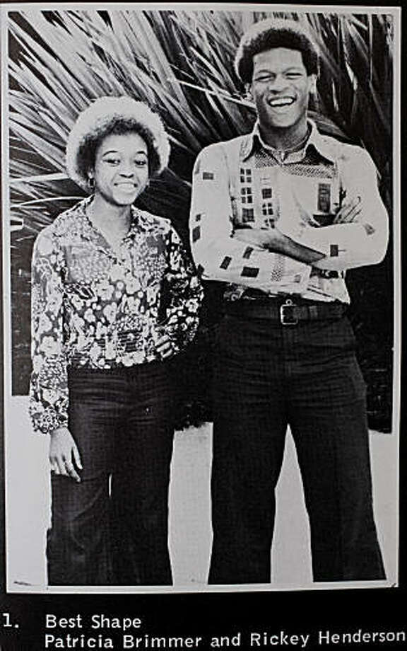 Oakland Tech High School star athlete Rickey Henderson was voted in the senior class poll as having the Best Shape along with classmate Patrica Brimmer (left) in Henderson's senior year in Oakland, Calif. Photo: Oakland Tech High School