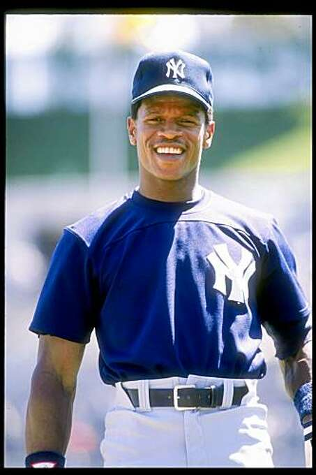 1989:  Rickey Henderson of the New York Yankees in action during a game. Mandatory Credit: Otto Greule  /Allsport Photo: Otto Greule Jr, Getty Images