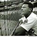 Sept. 28, 1989 Rickey Henderson watches the field during an A's vs. Rangers game.