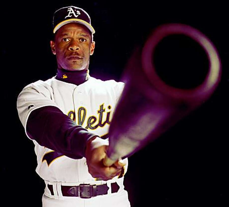 Rickey Henderson circa 1998. Photo: Russell Yip, The Chronicle