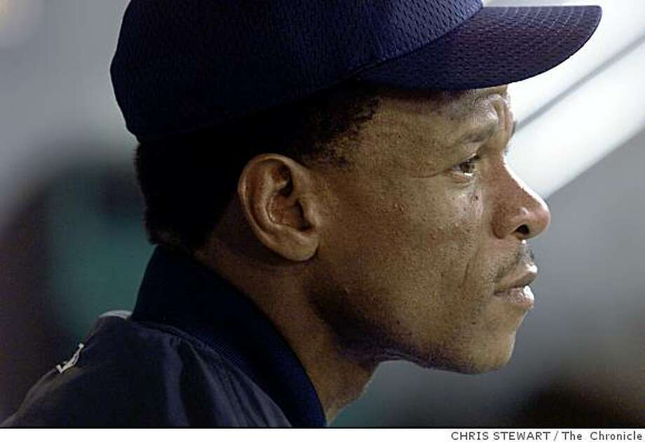 Rickey Henderson began to play at Safeco Field for the Seattle Mariners just a week ago, on May 30th 2000. His career has taken him to many teams around the country. Photo: CHRIS STEWART, The  Chronicle