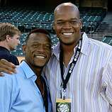 "Rickey Henderson, Frank ThomasThe Oakland A's Community Fund's third Annual Dinner on the Diamond at McAfee Coliseum raised more than $100,000 for the A's Community Fund and LA based camp ""The Painted Turtle"" for children with serious health issues."