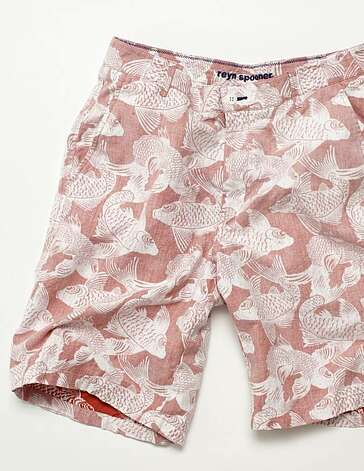 Known for its reverse-print fabrics, Reyn Spooner has expanded its swimwear collection with items like these Koi trunks, also available in cocoa and indigo. Photo: Www.reynspooner.com