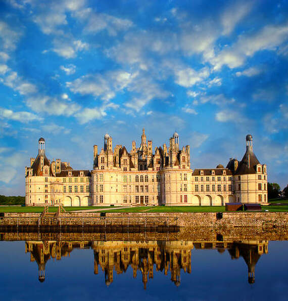 The Ch?teau de Chambord at Chambord. one France's most recognizable castles, is in Loir-et-Cher, Fra