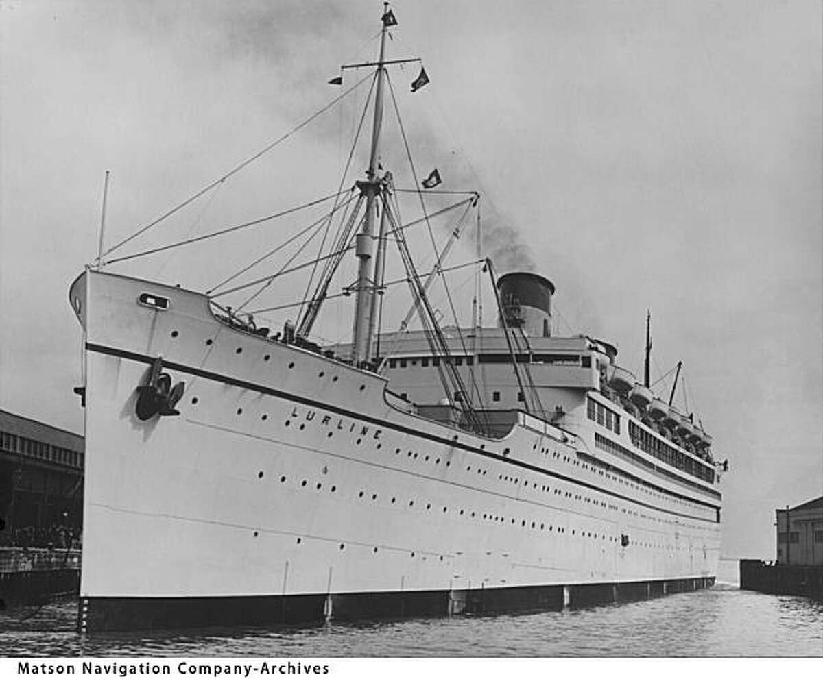 The Matson Lines S.S. Lurline, seen here in 1935, ferried celebrities and ordinary passengers from California to Hawai'i in style.