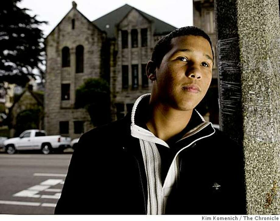 Former Carver School student Terrell Gunn stands in front of the Mt. Zion Baptist Church in San Francisco, Calif., on Wednesday,  Dec. 31, 2008. Photo: Kim Komenich, The Chronicle