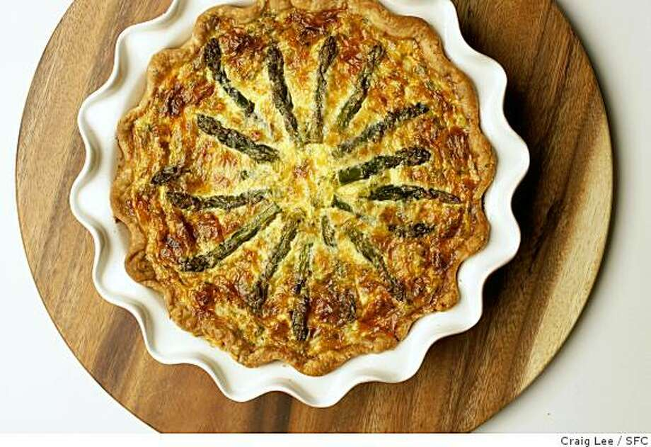 Spring Asparagus and Crab Quiche: This dish makes good use of sweet asparagus, and if you add crab and Gruyere, it's as though spring has arrived. Click here for the recipe.  Photo: Craig Lee, SFC