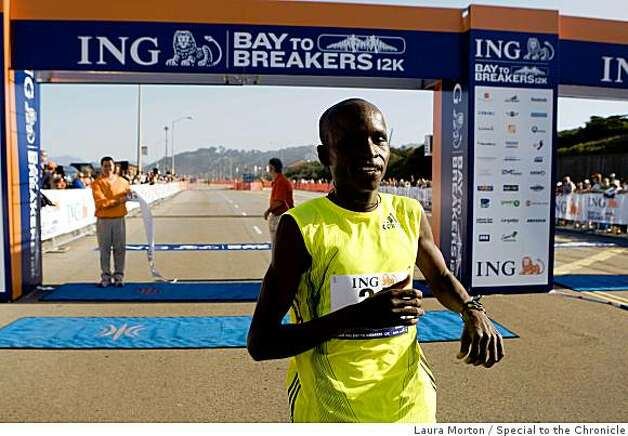 Sammy Kitwara of Kenya was top finisher of the Bay to Breakers. Photo: Laura Morton, Special To The Chronicle