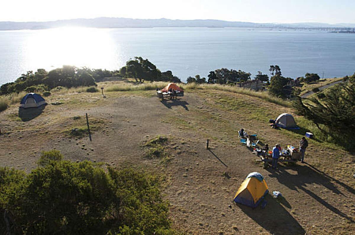 Camping at Angel Island.