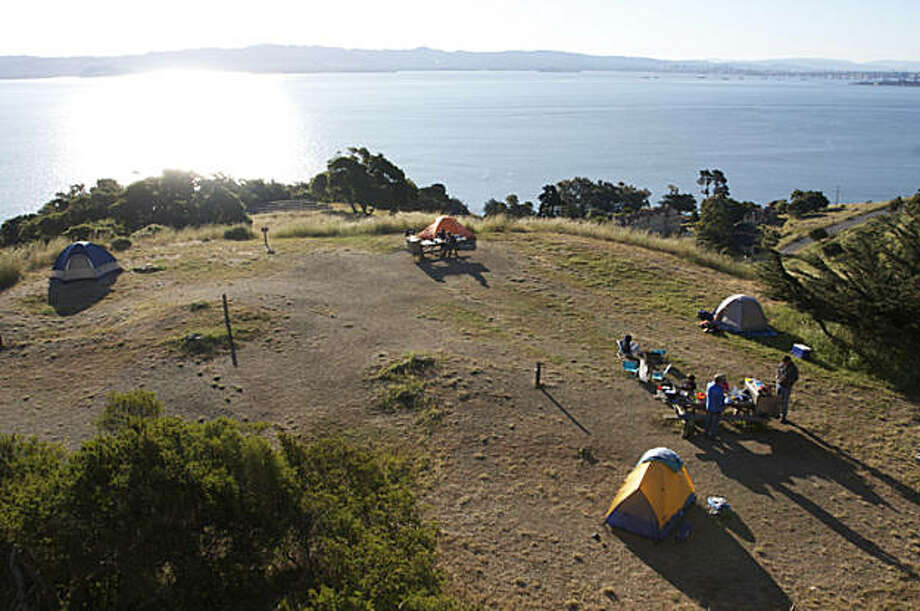 Camping at Angel Island. Photo: Patty Felkner