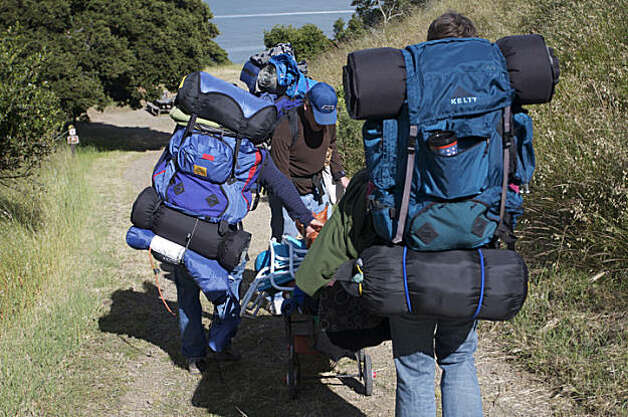Camping at Angel Island. Photo: Patty Felkner / SF. Camping at Angel Island.