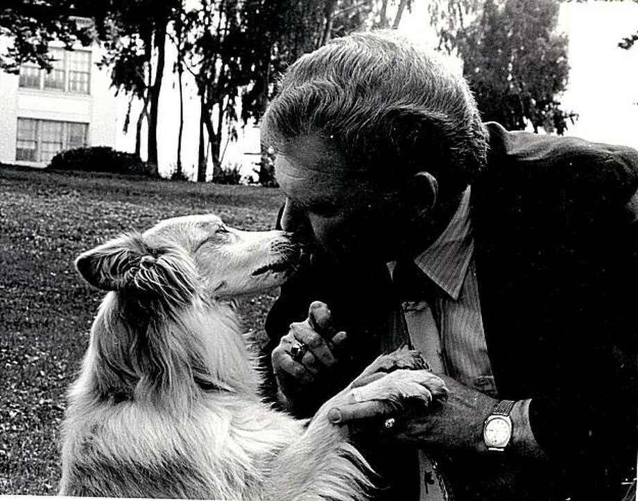 Richard Avanzino, then-President of the San Francisco SPCA, sharing a smooch with Sido, the dog whose life he fought to save. Photo: Courtesy Of Richard Avanzino