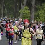 David Johnson of San Francisco runs in the 2010 Bay to Breakers in San Francisco, Calif. on Sunday May 16, 2010.