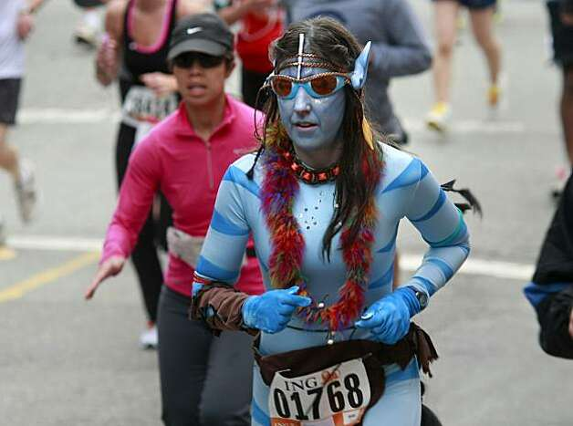There was a sighting of several Avatar creatures in the race. Thousands took place in the 99th annual ING Bay to Breakers event  Sunday morning May 16, 2010 in San Francisco, Calif. Photo: Brant Ward, The Chronicle
