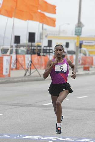 Mamitu Daska of Ethiopia, who finished third, races in the 2010 Bay to Breakers in San Francisco, Calif. on Sunday May 16, 2010. Photo: Lea Suzuki, The Chronicle
