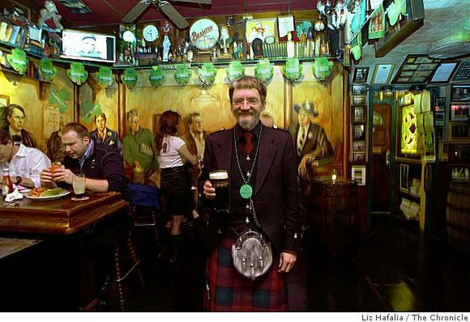 Malcolm Gregor Moray catching a drink at O'Reilly's pub on Thursday, March 12, 2009, in San Francisco, Calif. Photo: Liz Hafalia, The Chronicle