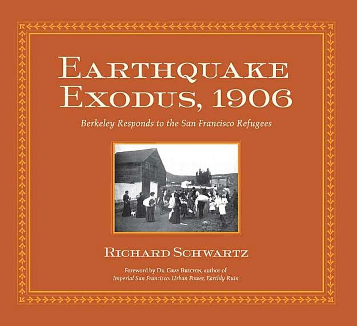 Schwartz?•s book, Earthquake Exodus 1906, Berkeley Responds to the San Francisco Refugees deals with the story of aftermath of the 1906 Earthquake, how the refugees fled the fire and destruction, what they witnessed as they fled, what means they used to get to safety, and what efforts were mobilized for their survival by East Bay residents who volunteered so much. Many of the stories in this book were largely lost or forgotten for one hundred years. The ten-week relief effort in the East Bay to assist the San Francisco refugees was so successful, it lasted only ten weeks, everyone either returning home, being relocated and being offered new jobs. The common sense idea that the real purpose of the relief effort was to, as quickly as possible, put the refugees back on their own two feet and occupy them with work. It was extraordinarily successful. From the book