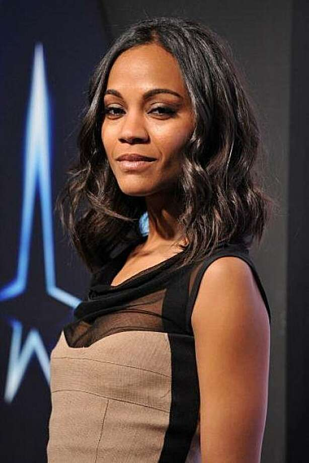 """Zoe Saldana, as communications officer Lt. Nyota Uhura, was intimate with Spock in the first """"Star Trek"""" movie with the new cast. Photo:  Kristian Dowling/Getty Images"""
