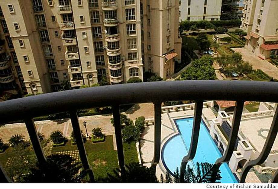 Gurgaon is dotted with huge gated communities like the one Kitty Singh lives in. The pool is a good place to meet the neighbors, many of them expats and returnees. The kids can go trick or treating during Halloween. Photo: Courtesy Of Bishan Samaddar