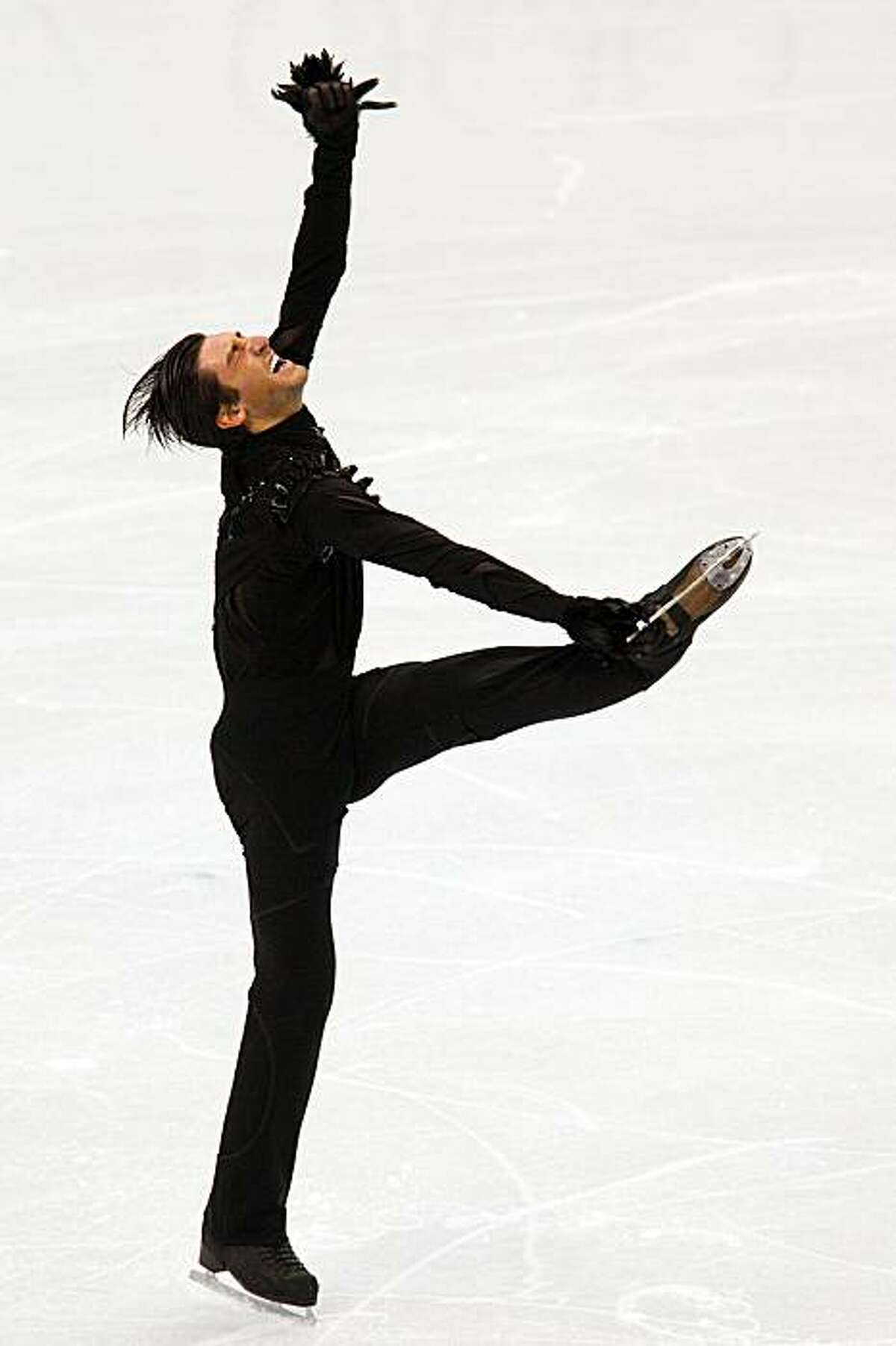 Evan Lysacek of the USA performs his short program during men's figure skating at the 2010 Winter Olympics on Tuesday, Feb. 16, 2010, in Vancouver. ( Smiley N. Pool / Houston Chronicle )Evan Lysacek of the USA performs his short program during men's figure skating at the 2010 Winter Olympics on Tuesday, Feb. 16, 2010, in Vancouver.