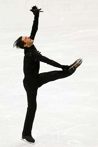 Evan Lysacek of the USA performs his short program during men's figure skating at the 2010 Winter Olympics on Tuesday, Feb. 16, 2010, in Vancouver. ( Smiley N. Pool / Houston Chronicle )Evan Lysacek of the USA performs his short program during men's figure skating at the 2010 Winter Olympics on Tuesday, Feb. 16, 2010, in Vancouver. Photo: Smiley N. Pool, Chronicle Olympic Bureau