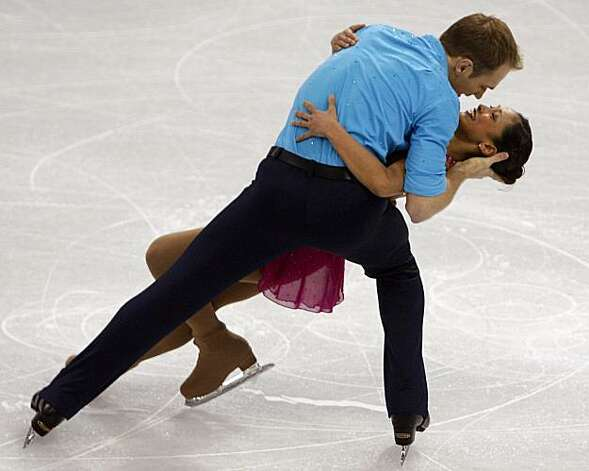 Amanda Evora and her partner Mark Ladwig finish their short program in the pairs skating competition at the Winter Olympic Games in Vancouver, B.C., on Sunday.Amanda Evora and her partner Mark Ladwig finish their short program in the pairs skating competition at the Winter Olympic Games in Vancouver, B.C., on Saturday, Feb. 13, 2010. Photo: Paul Chinn, The Chronicle