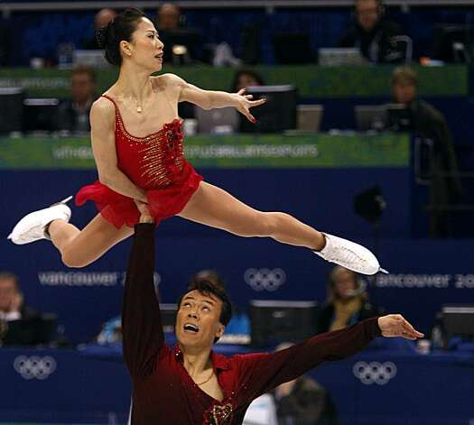 Xue Shen and Hongbo Zhao of China perform their gold medal-winning program in the pairs free skate competition at the Winter Olympic Games in Vancouver, British Columbia, on Monday.Xue Shen and Hongbo Zhao of China perform their gold medal-winning program in the pairs free skate competition at the Winter Olympic Games in Vancouver, British Columbia, on Monday, Feb. 15, 2010. Photo: Paul Chinn, The Chronicle