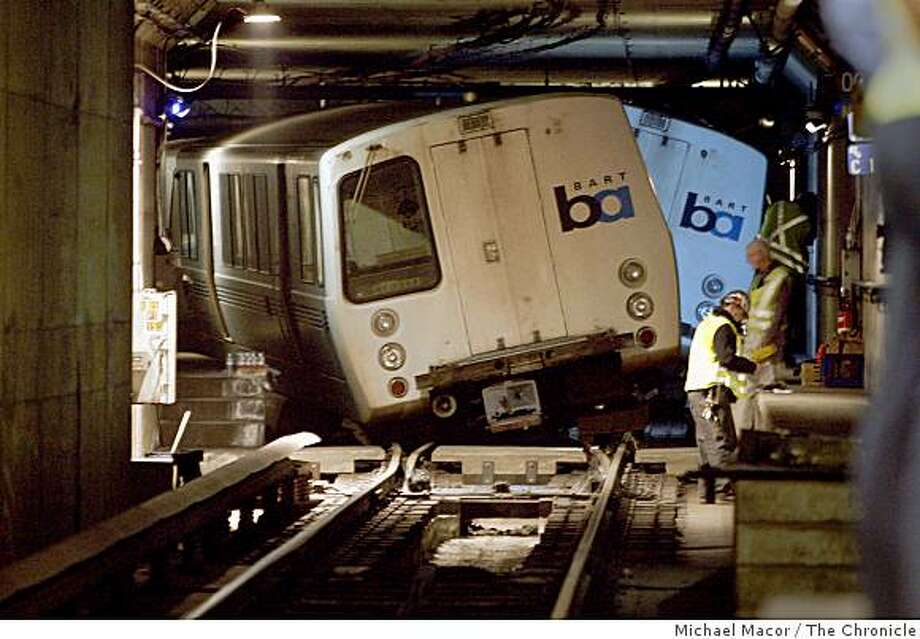 The Pittsburg-Bay Point and Richmond BART lines are shut experiencing delays after a collision between two BART trains at the 12th Street/Oakland City Center station on Tuesday afternoon. Photo: Michael Macor, The Chronicle