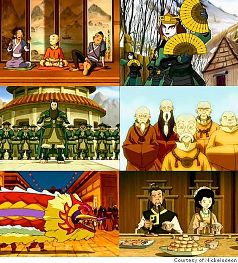 "Assorted scenes from the animated series, ""Avatar: The Last Airbender.""  Asian or not? You decide. Photo: Courtesy Of Nickelodeon"