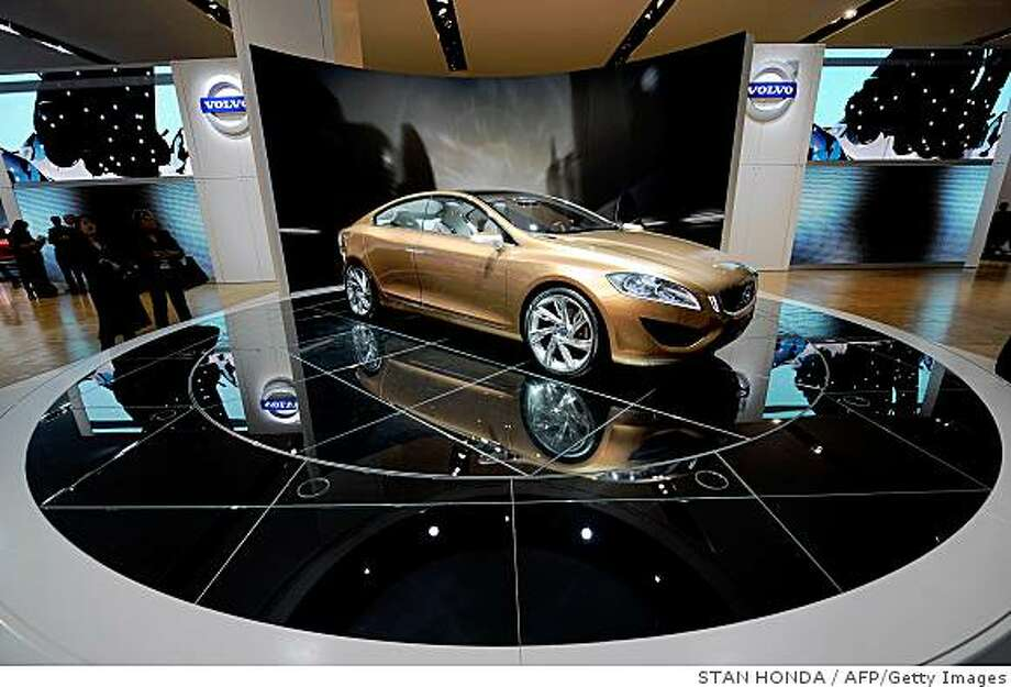 The Volvo S60 concept car on display at the North American International Auto Show January 12, 2009 in Detroit, Michigan.  AFP PHOTO/Stan HONDA (Photo credit should read STAN HONDA/AFP/Getty Images) Photo: STAN HONDA, AFP/Getty Images