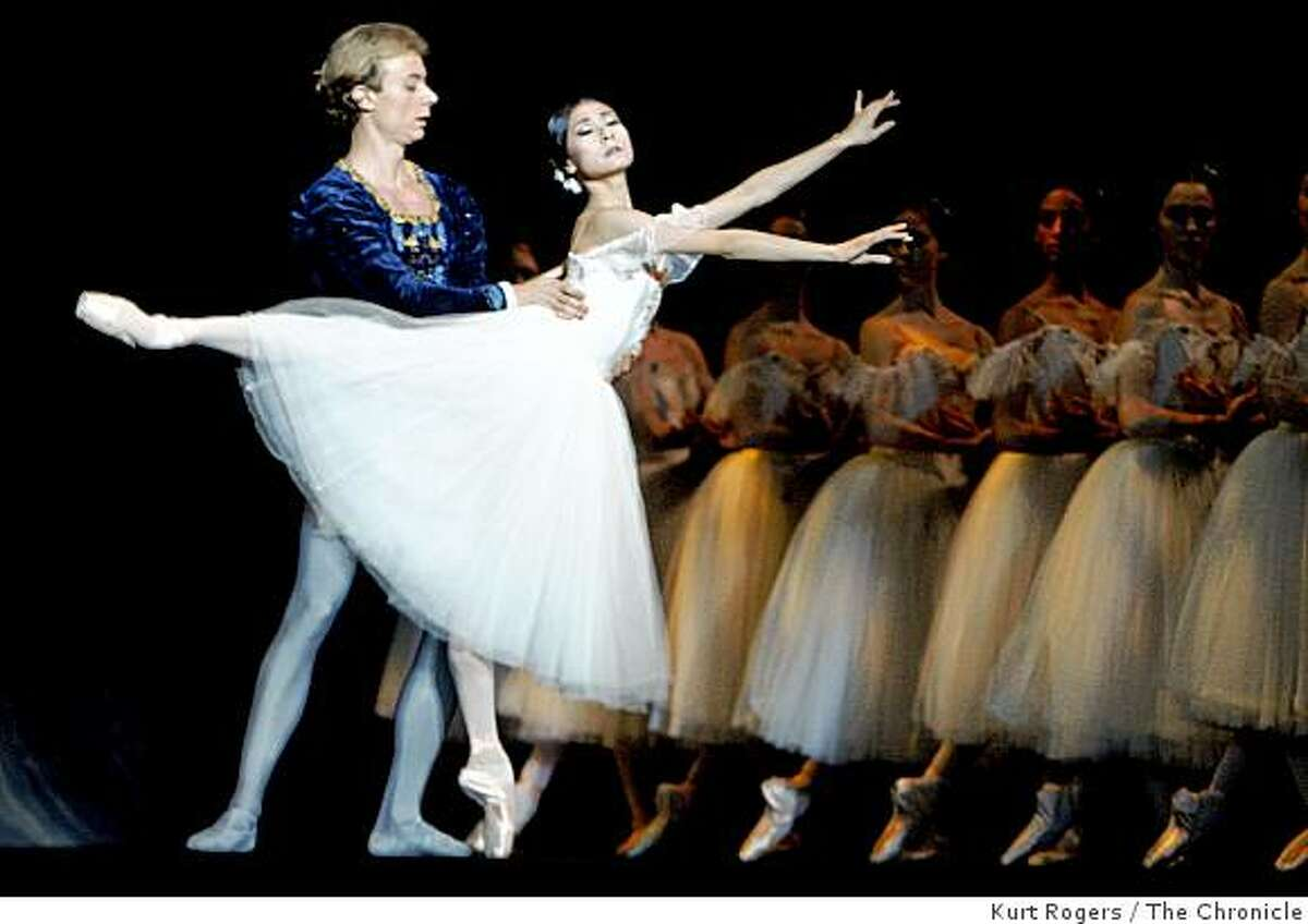 Yuan Yuan Tan and Ivan Popov in Giselle,Act II in San Francisco, Calif., on Wednesday. Jan. 21, 2009.