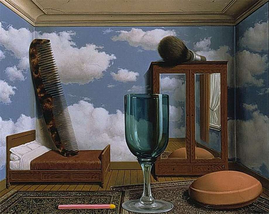 René Magritte, Les valeurs personnelles (Personal Values), 1952; 31 1/2 in. x 39 3/8 in.; oil on canvas; Collection SFMOMA, Purchased through a gift of Phyllis Wattis. Photo: C. Herscovici, Brussels / ARS,NY, Collection, SFMOMA