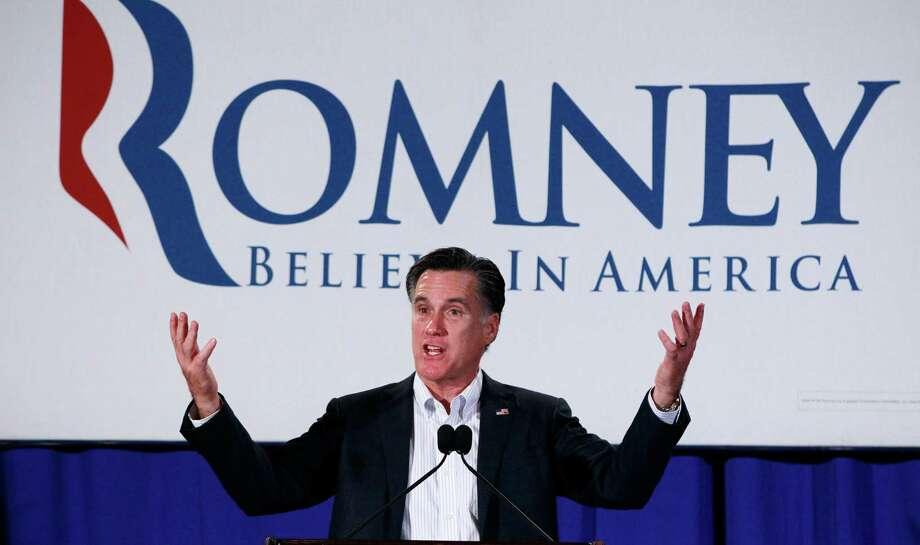El ex gobernador de Massachusetts Mitt Romney aseguró el martes la nominación republicana a presidente de EE.UU. con una victoria en las primarias de Texas. Photo: Charles Dharapak / AP