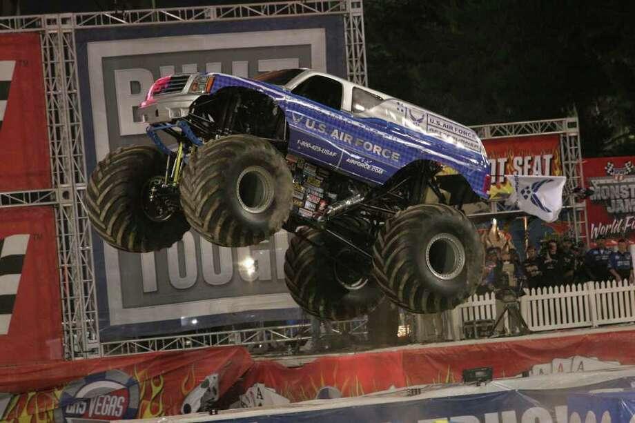 Monster Jam, show of monster trucks. Courtesy, Monster Truck Online/Feld Entertainment Inc. / DirectToArchive