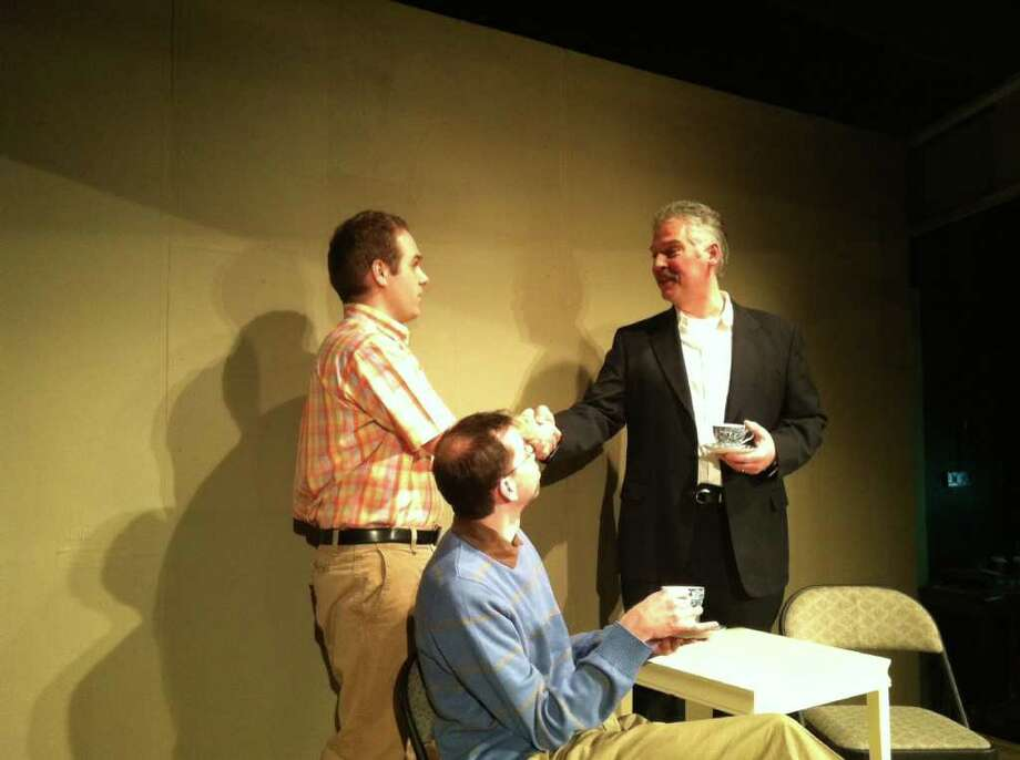 """Patrick Rooney, Kris Anderson and David Orr in Curtain Call Theatre's """"Next Fall."""" (Curtain Call Theatre)"""