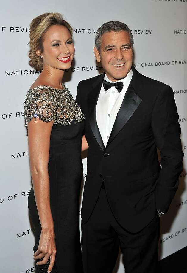 NEW YORK, NY - JANUARY 10:  Stacy Keibler and George Clooney attend the 2011 National Board of Review Awards gala at Cipriani 42nd Street on January 10, 2012 in New York City.  (Photo by Stephen Lovekin/Getty Images) Photo: Stephen Lovekin, Getty Images