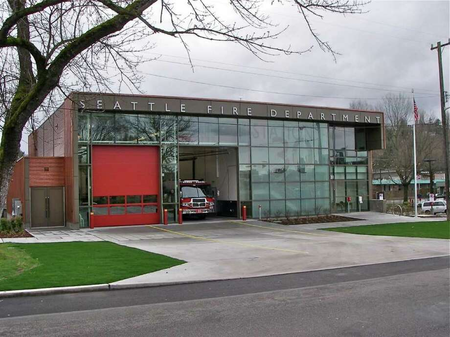 "Fire Station 30, 2931 Mt. Baker Boulevard S., in the Mount Baker neighborhood. Designed by Schacht Aslani Architects and Nakano Associates (landscape architects) for the Seattle Fire Department, this project replaced a 1949 station that didn't meet current seismic code or have enough space for modern equipment. The new station includes a balcony where firefighters can chat with students on their way to and from nearby Franklin High School and achieved gold-level certification through the U.S. Green Building Council's Leadership in Energy and Environmental Design Program (which goes up to platinum). ""The project deserves recognition for its clear planning concept, innovative use of materials, and comprehensive sustainable design strategy,"" the Design Commission wrote. ""We believe it will serve as a model for future Fire Station design through its thoughtful use of a modest budget to produce an elegant civic building that fits into a neighborhood context."" Photo: Seattle Fire Department"