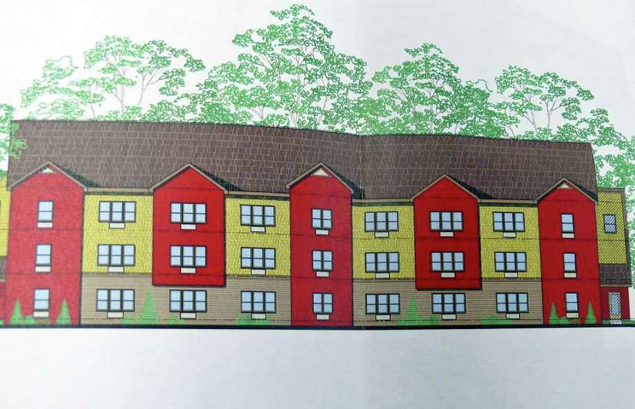 Garden Homes Management has proposed a 54-unit apartment building for a vacant lot on Fairchild Avenue. Photo: Contributed Photo / Fairfield Citizen