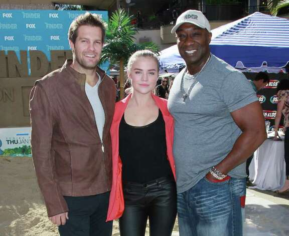 Geoff Stults, left, Maddie Hasson and Michael Clarke Duncan star in The Finder on Fox. Photo: David Livingston, Stringer / 2012 Getty Images