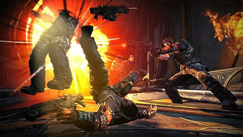 Expect lots of bodies (and body parts) flying in the air in the knowingly over-the-top Bulletstorm. Photo: Electronic Arts
