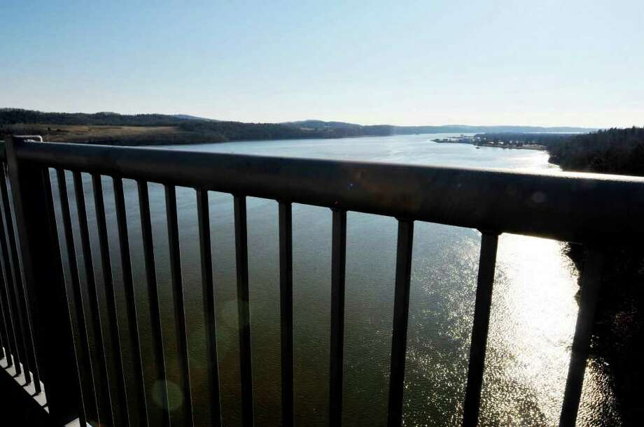 View from the Rip Van Winkle bridge that spans the Hudson River between Catskill and Hudson, NY, on Wednesday, Jan.11, 2012. ( Michael P. Farrell/Times Union) Photo: Michael P. Farrell