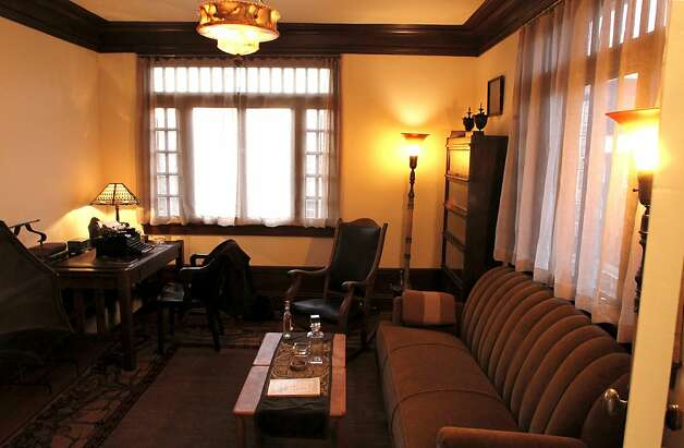 The main room of Dashiell Hammett's old apartment on Friday December 23, 2011, in San Francisco, Ca., which is now leased by local author Robert Mailer Anderson, who has restored and preserved Hammett's apartment down to the last detail. Interview with Eddie Muller, president of the Film Noir Foundation and director of the 10th Film Noir Film Festival. Photo: Michael Macor, The Chronicle