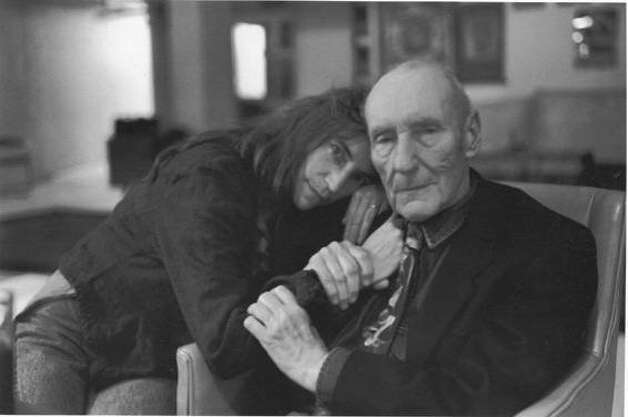 "Patti Smith and William S. Burroughs are shown in this photo by Allen Ginsberg from, "" William S. Burroughs: A Man Within."" Photo: Allen Ginsberg, Courtesy Of Oscillosope Laborato"