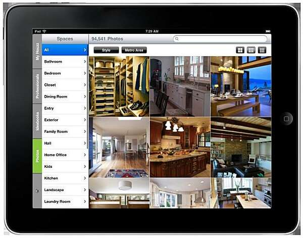 Houzz app and website fill design digital divide sfgate for Interior design app for ipad free