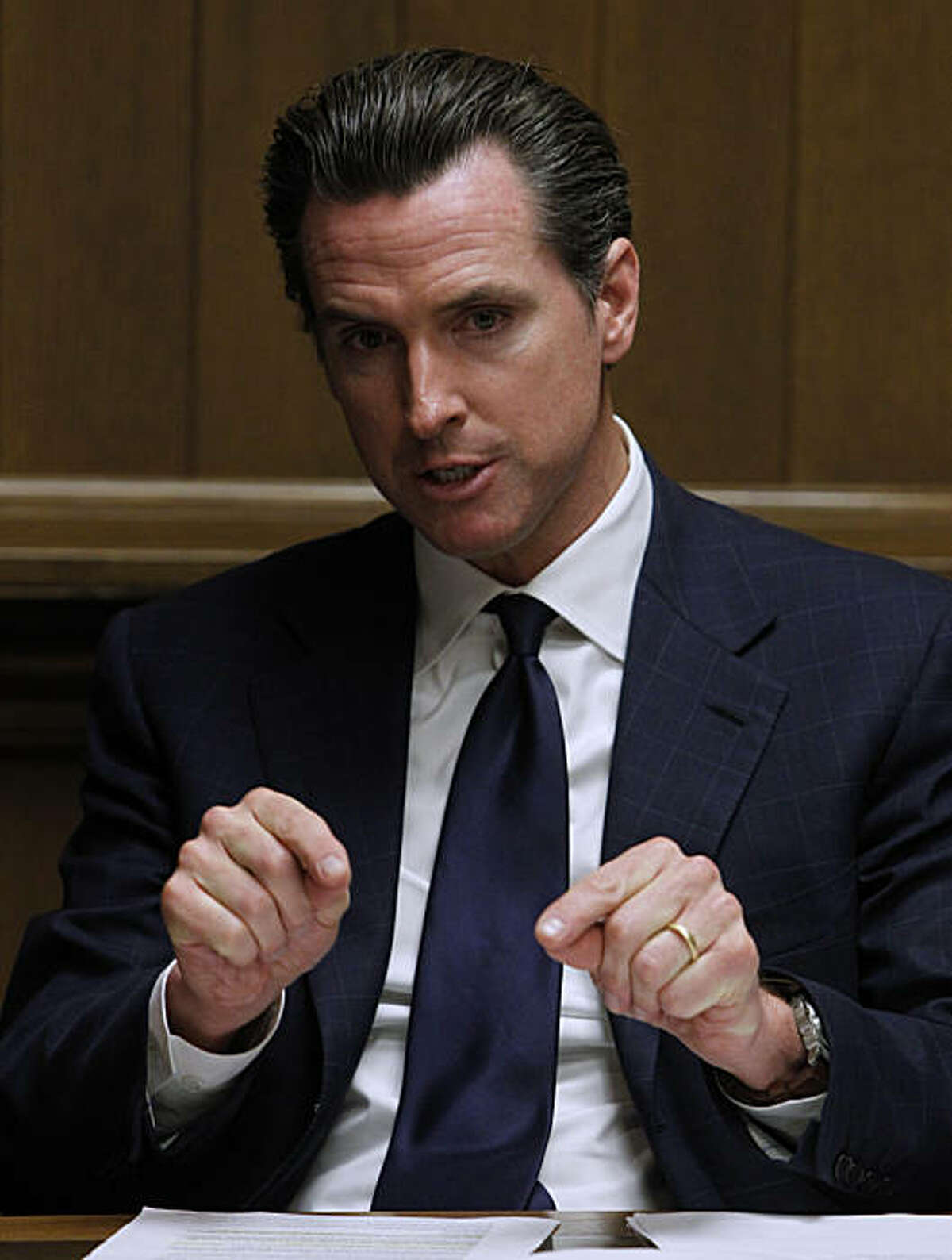 Mayor Gavin Newsom meets with the Chronicle Editorial Board in San Francisco, Calif., on Wednesday, Dec. 22, 2010. Newsom will step down as mayor in January when he begins a new chapter in his political career as California's Lieutenant Governor.