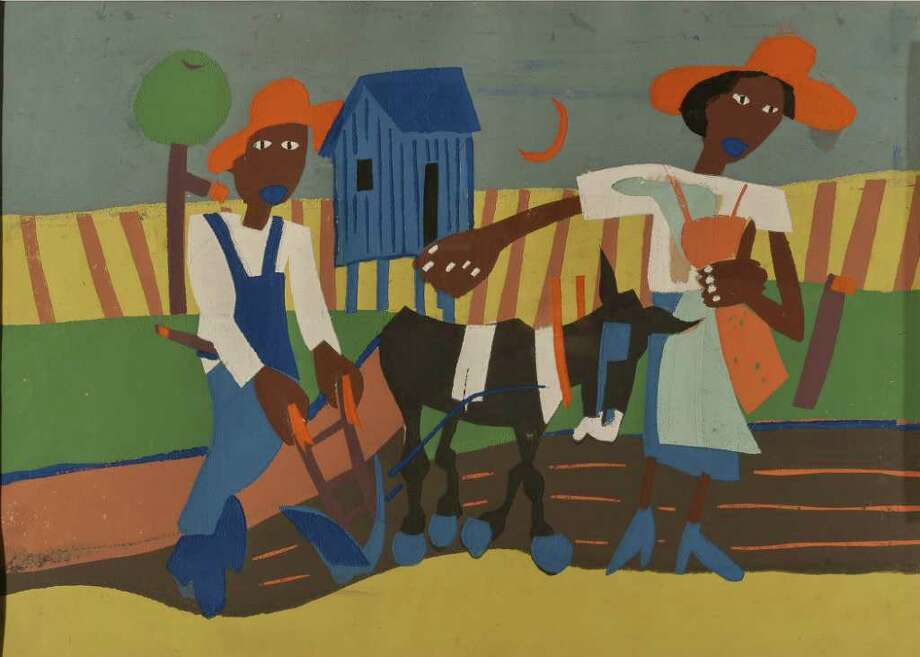 "William H. Johnson's ""Sowing"" is part of the exhibit San Antonio Collects: African American Art at the San Antonio Museum of Art Photo: Courtesy San Antonio Museum Of Art / Photography by Peggy Tenison. Contact the San Antonio Museum of Art for Rights and Reproductions."
