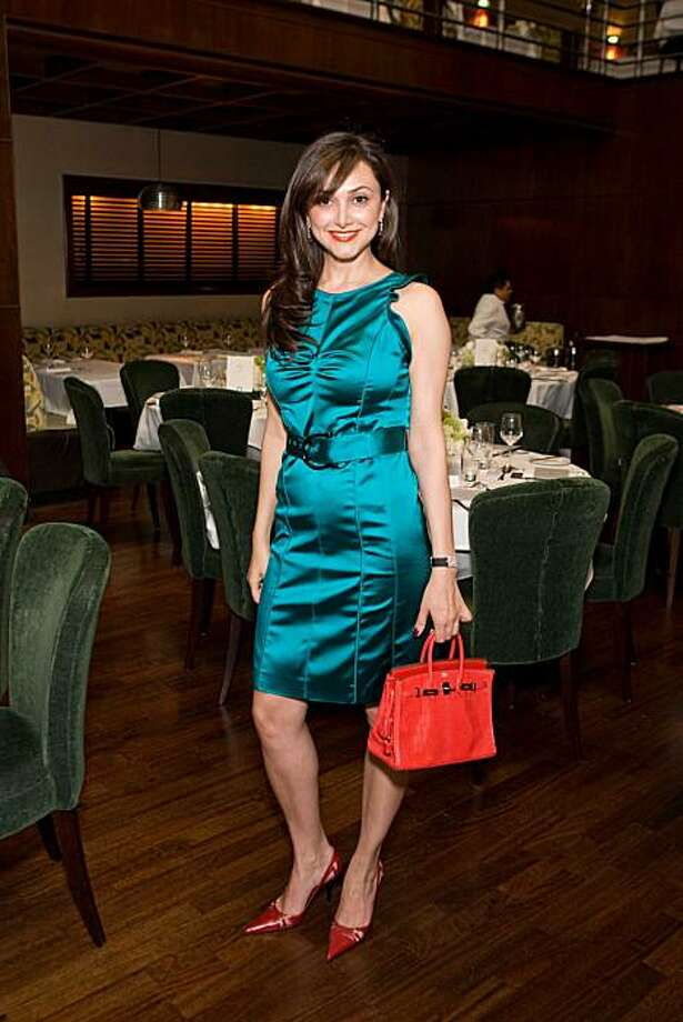 Bita Daryabari (in Burberry) attends Vanessa Getty's luncheon at Bix to introduce 50 friends to the San Francisco International Film Festival. The festival's main sponsor was Vanity Fair. The event also featured a fashion show by Nordstrom, another event sponsor. Photo: Drew Altizer