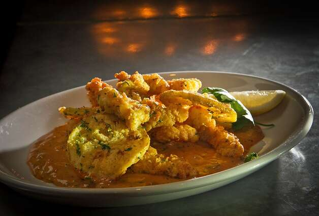The fried Alligator at the Boxing Room Restaurant in San Francisco, Calif.,  is seen on Wednesday, December 21st,  2011. Photo: John Storey