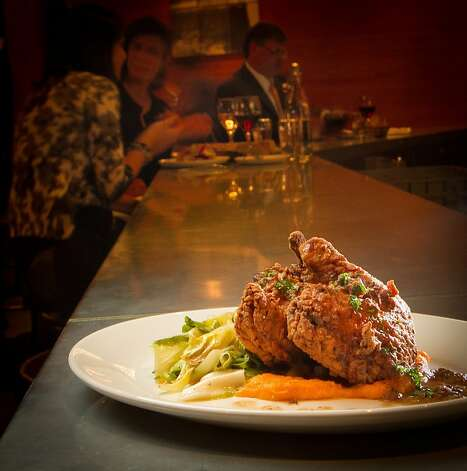 The fried Chicken at the Boxing Room Restaurant in San Francisco, Calif.,  is seen on Wednesday, December 21st,  2011. Photo: John Storey
