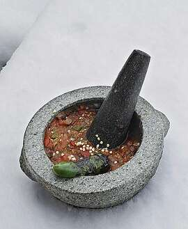 Salsa de Molcajete For South to North column by Jacqueline Higuera McMahan